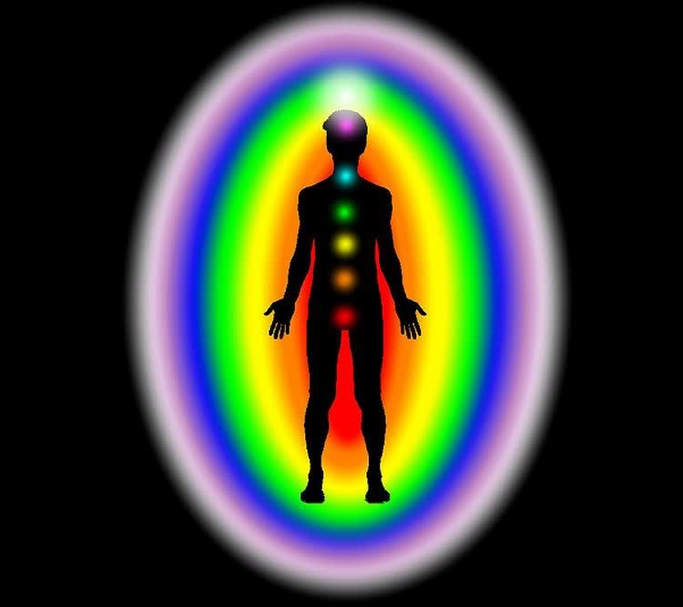 Цветное фото ауры человека