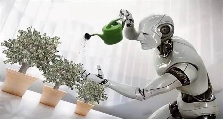 робот поливает деньги вложенные на вырост дохода