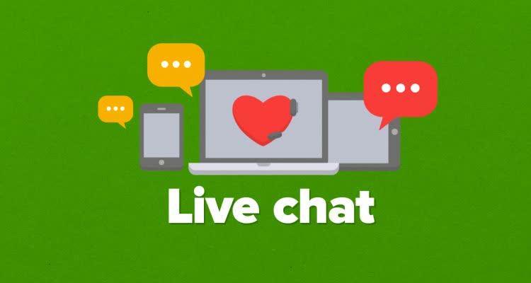 Плакат Live chat