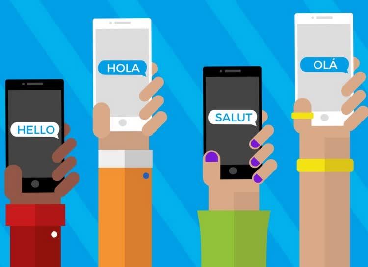Надписи в телефонах на английском при общении